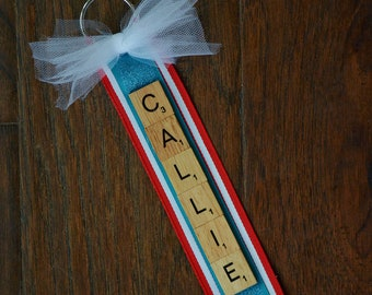 Scrabble Tile Keychain, Scrabble Key Ring, Personalized Gift, New Car