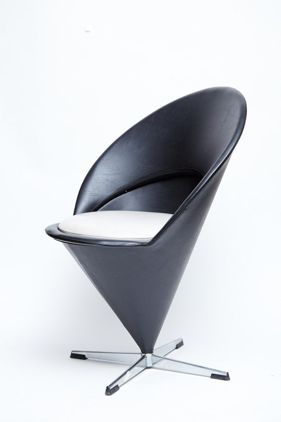 Verner Panton Chair (Sort)