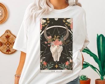 The Bride Tarot Card Shirt, Bride  Tarot Card Tee, BOHO Bride shirt, Unique Bachelorette Shirt, Comfort Colors Bride Shirt
