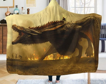 Game of thrones Hooded Blanket Dracarys Bedding room decor a856c3371