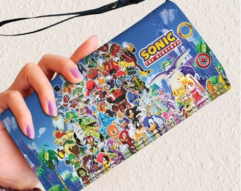 Sonic Wallet Sonic the hedgehog Purse vegan wallet large women's wallet, Wallet for women, gift for her, wife gift, birthday present