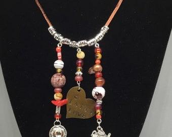 Latte Love Charm Necklace