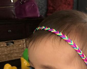 Rainbow, Braided Headband