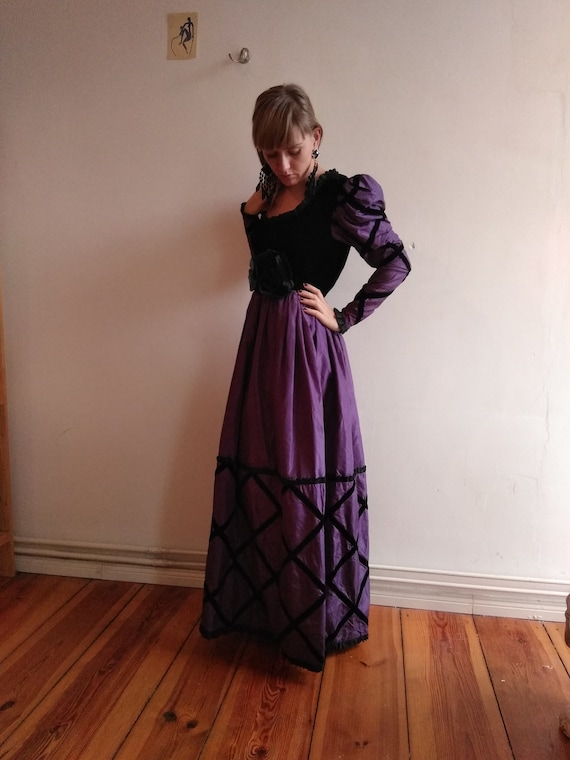 60s Givenchy Haute Couture Numbered Gown. Purple S
