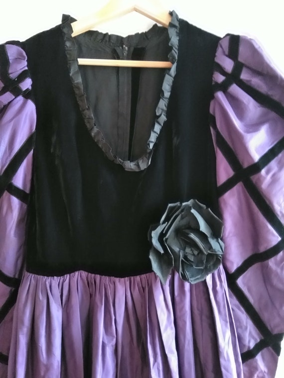 60s Givenchy Haute Couture Numbered Gown. Purple … - image 7