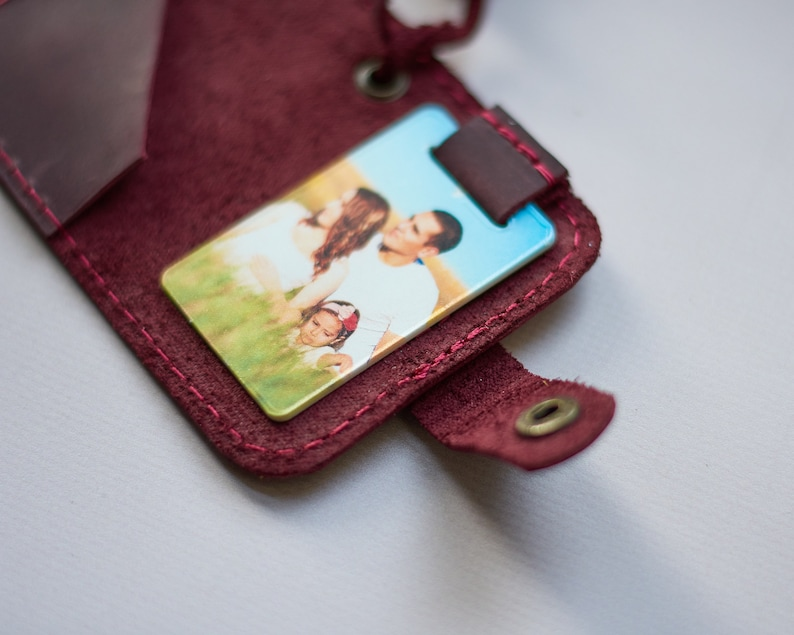 Customized Photo Keychain Personalized Image Keychain Leather Key Fob 5 year Anniversary Gift Birthday Gift for Him Mens Gift Travel Gift