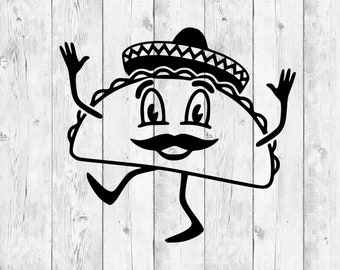 Taco Svg, Taco Silhouette Svg, Taco Tuesday Svg, Feed Me Tacos Svg, Taco Shirt Svg, Taco Clipart, Mexican Food Svg, Cricut Svg, Silhouette