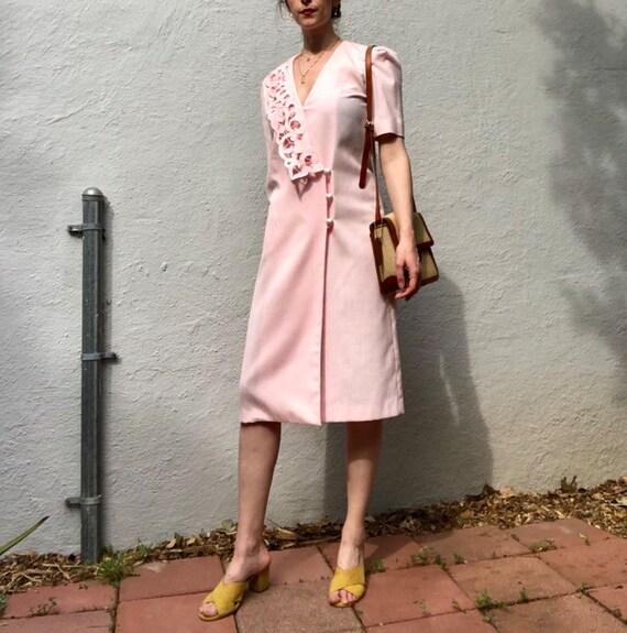 Pastel Pink Wrap Dress
