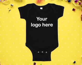 Customizable Logo Graphic Onesie\u00ae Or T-Shirt Personalized Baby Apparel Kids Custom Tee