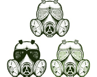 Vector Grunge Gas Mask