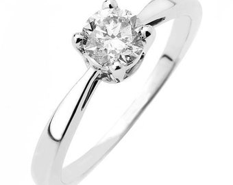 3/2 carat solitaire Natural diamond ring for women