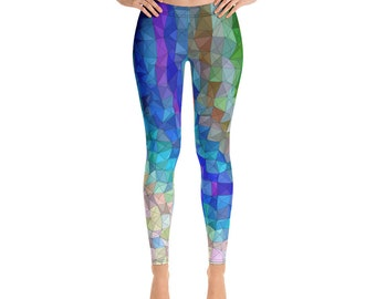ead6ba9d4a Hippie Leggings // Festival Clothing Women // Festival Leggings // Rave  Outfits // Hippie Clothes // Psychedelic Yoga Pants // Rave Leggings