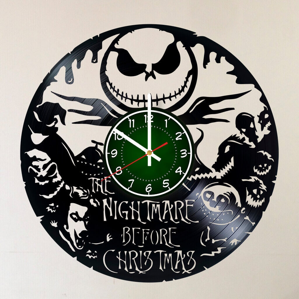 Nightmare Before Christmas 12 inches/30 cm VINYL Record Wall | Etsy