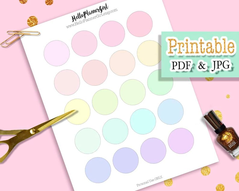photograph relating to Printable Round Stickers called Gentle Hued Circle Stickers Printable, 1.5 Circle Labels, Pastel Labels, Blank Spherical Stickers for Planners, Publications, Sbooking Writing