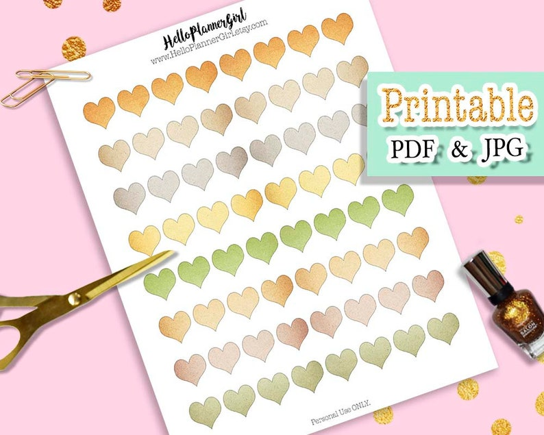 picture regarding Printable Heart Shaped Labels identify Environment Tone Middle Stickers Printable, Kraft Paper Center Labels, Magazine Equipment, Planner Add-ons, TN Extras, EC Planner Stickers