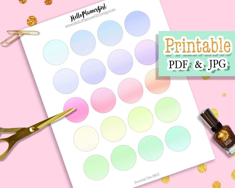 photo regarding Round Labels Printable referred to as Pastel Rainbow Circle Labels Printable, 1.5 Inches Circle Stickers, Vibrant Gradient Spherical Labels for Planners, Sbooking, Composing, Do-it-yourself