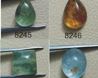 Aquamarine Gemstone Smooth Cabochon Lot Milky Aqua Loose Jewelry Aquamarine Gems Cabochon Lot For Jewelry Making