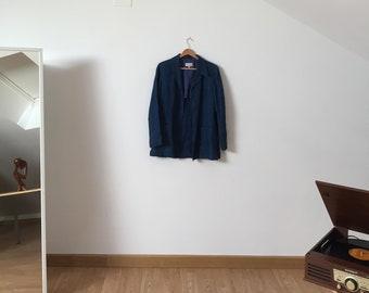 vintage denim jacket - blazer