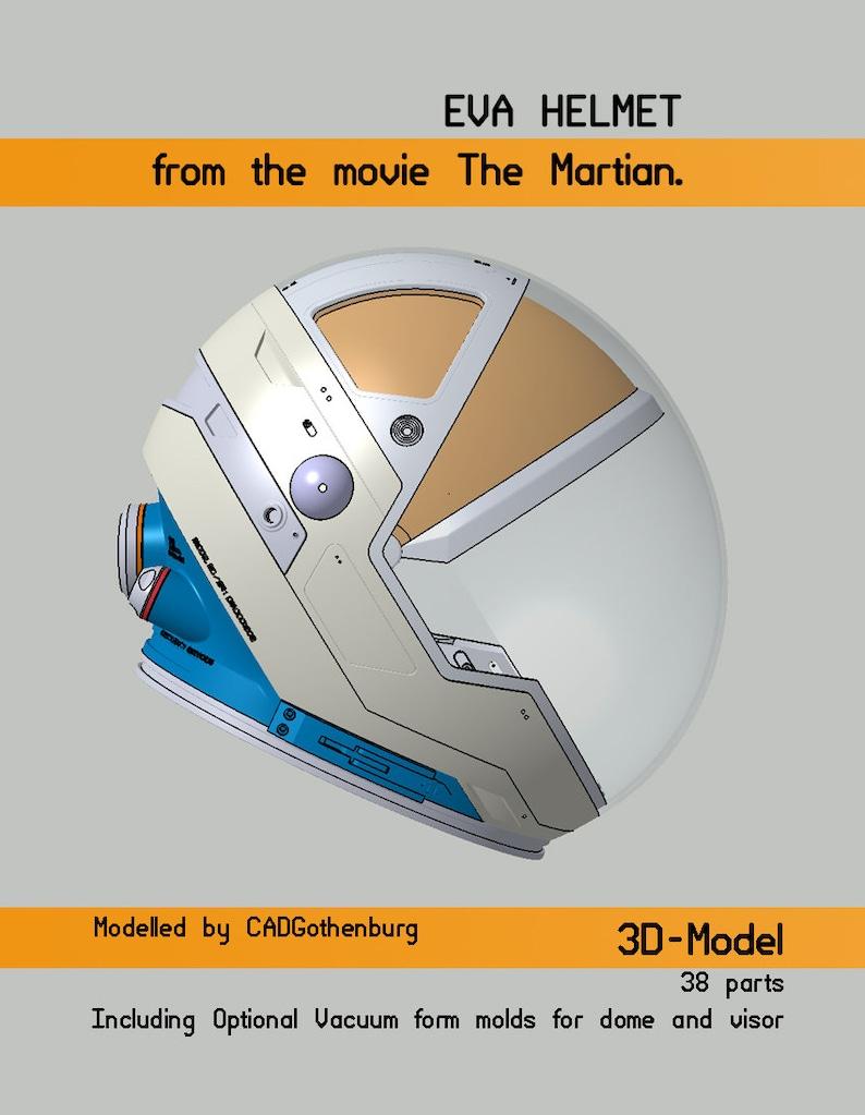 3D models of the EVA helmet from 'The Martian' image 0