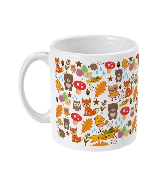 Cute Autumn Gift Cute Autumn Mug Autumn Critters Creatures Etsy