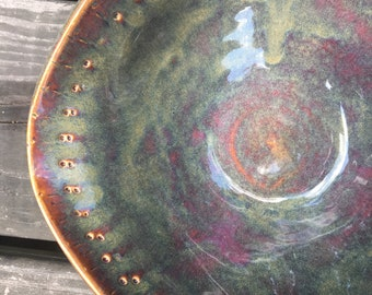 Cranberry Blue Handmade Pottery Bowl
