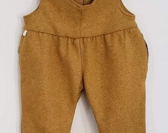 Yellow Wool Salopette