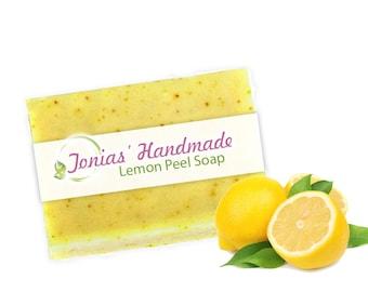 Lemon Peel Turmeric Soap Bar Face and Body Organic Soap, Brightening, Fade Dark Spots 4 oz