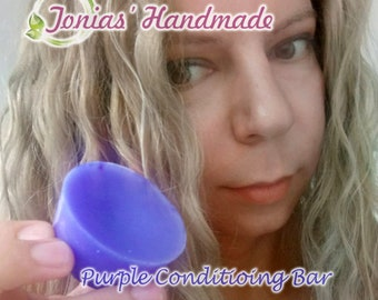 Purple Conditioning Bar, Toning Hair Conditioner, Zero Waste