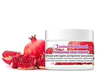 Pomegranate Facial Exfoliator, Organic Face Scrub Exfoliant, Skin Rejuvenation