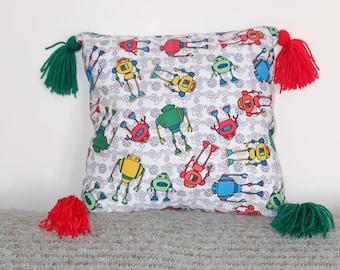 Robot Print Cushion