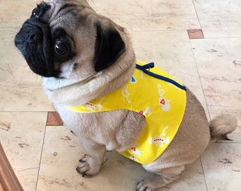 Handmade Dog Harness Pug French bulldog Collar Vest Unique one Brand New Candy Yellow