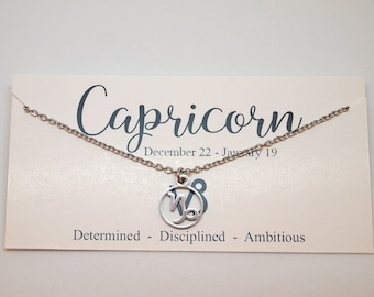 Capricorn necklace | Etsy