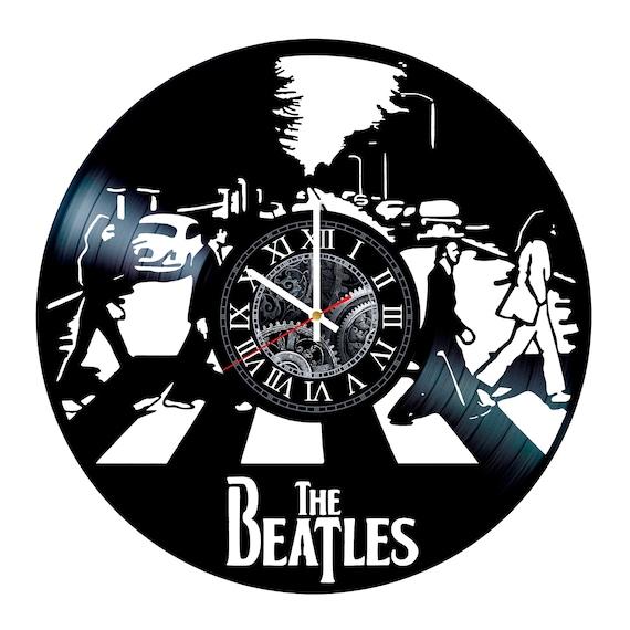 The Beatles Music Vinyl Record Wall Clock Etsy