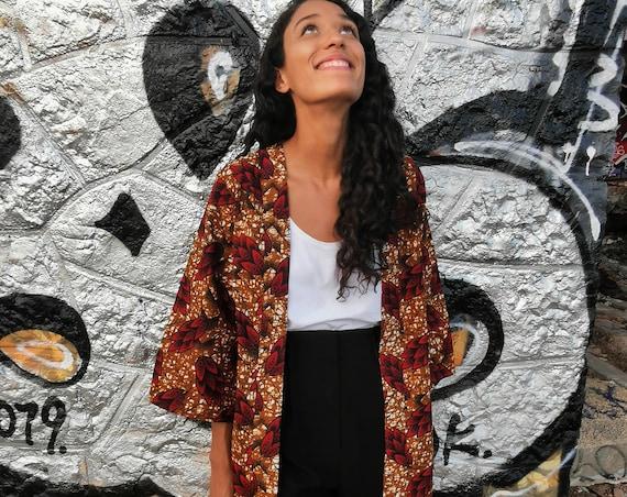 Veste kimono Bromélia