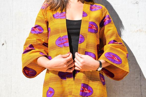 Veste kimono Hirondelles