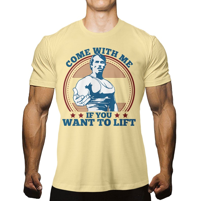 Get to da Choppa T-Shirt Funny Arnie Retro Schwarzenegger Movie Gym LB