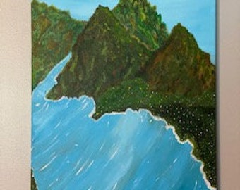 Painting, Mountain Painting, Original Artwork, Artwork, Art, Mountains, Wall Decor, Home Decor, Mountain and Water Painting, Office Decor