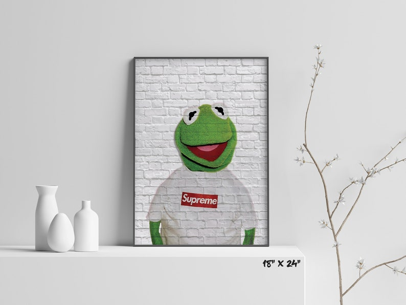 f7d0da601fa3 Kermit x Supreme Red Box Logo T-Shirt Bricked