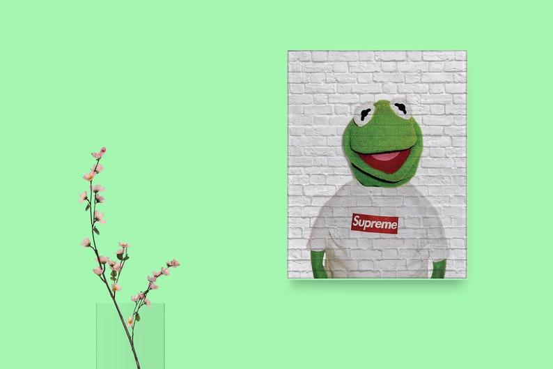 Kermit suprema box logo personalizzato moda suprema opera etsy