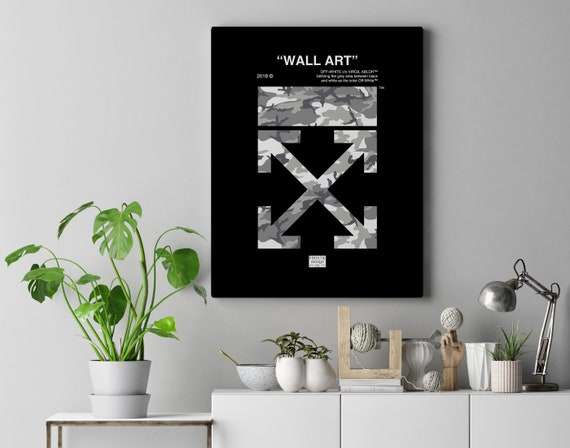 8e821093cabc Virgil Abloh Off-White Camo WALL ART Custom Camo Poster