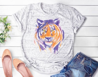 5c045697f7 Tiger Tshirt || Watercolor Tiger T-Shirt || Women's T-Shirt
