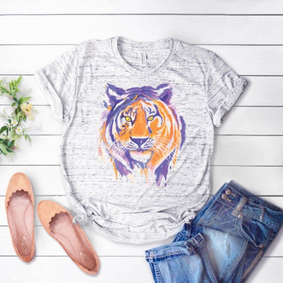 Tiger Mascot Stud T Shirt
