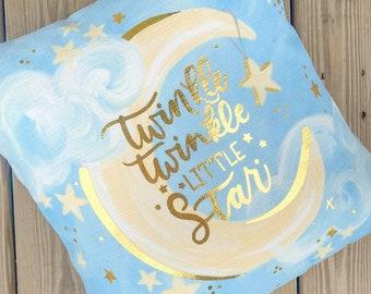 Twinkle Twinkle Little Star Pillow ||  Nursery Pillow ||  Baby Pillow