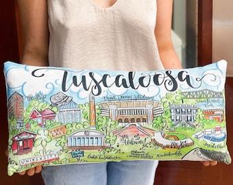 Tuscaloosa Scene Pillow || Tuscaloosa Decor || Tuscaloosa Alabama