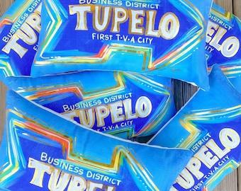 Gold foil Tupelo Pillow || First TVA City Pillow || Tupelo Mississippi