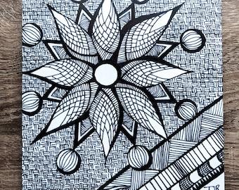 Zentangle Signature Aluminum Print