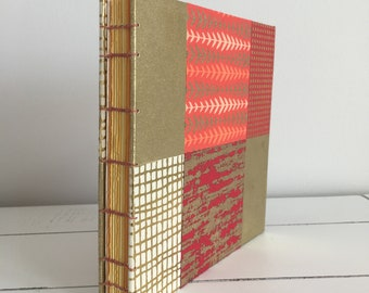 Handmade 6x6 Book - Warm Grid