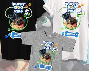 Puppy Dog Pals Birthday Shirt Puppy Dog Pals Family Shirt,Family Matching Shirt