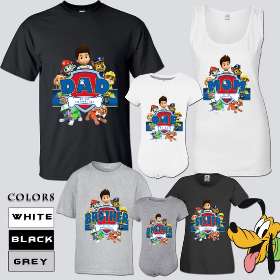 Paw Patrol Birthday Shirts Bday Family