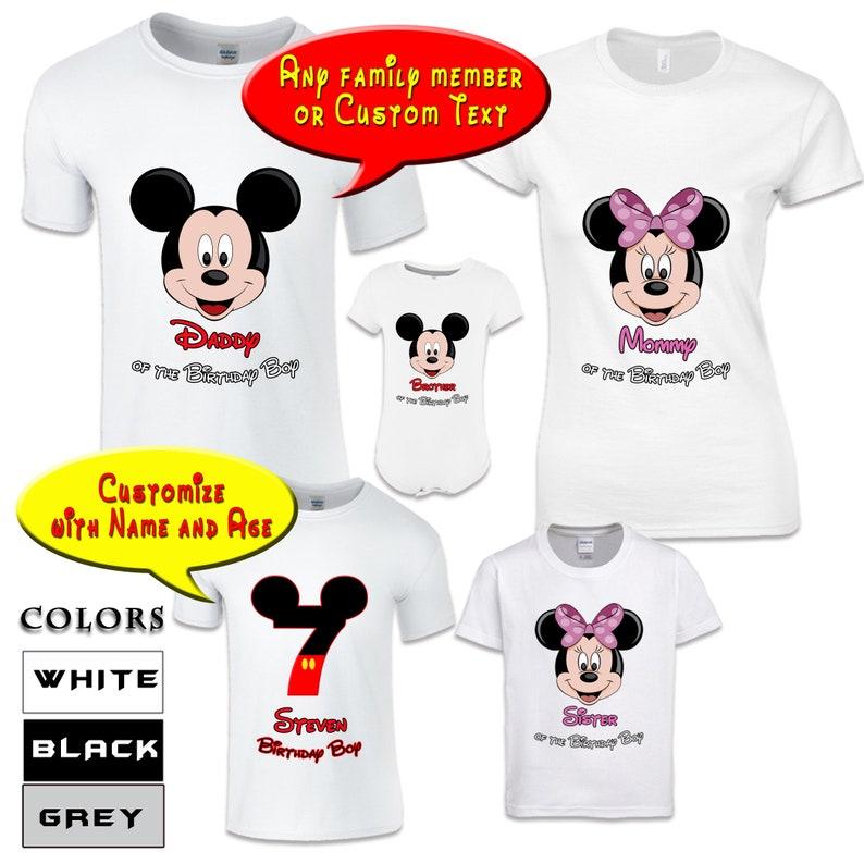 bb8cbf536 Disney Birthday Shirts For Family Birthday Disney Shirts Bday   Etsy